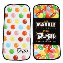 マーブルチョコレート ミニ タオル プチタオル 2Pセット meiji おやつマーケット 10×20cm 3枚組 キャラクター グッズ メール便可