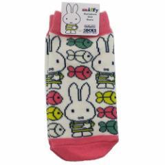 ミッフィー 子供用 靴下 キッズ ソックス しましまミッフィー おさかないっぱい ディックブルーナ 13〜18cm メール便可
