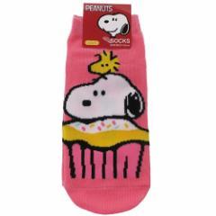 スヌーピー 女性用 靴下 レディース ソックス カップケーキ ピーナッツ 23〜25cm キャラクター グッズ メール便可