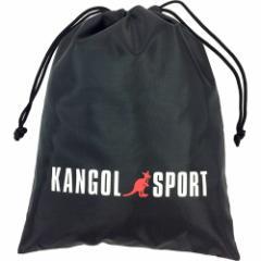 シューズバッグ ナイロン 巾着ポーチ ストレートロゴ 靴入れ KANGOL SPORT 体育館シューズ入れ アパレルブランド グッズ