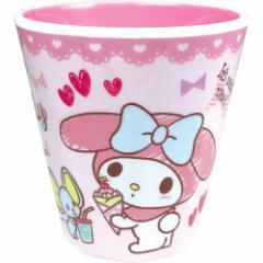 マイメロディ プラコップ Wプリント メラミンカップ おやつ サンリオ 新生活準備 キャラクター グッズ