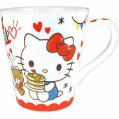 ハローキティ マグカップ 陶器製 スリム マグカップ おやつ サンリオ ギフト食器 キャラクター グッズ