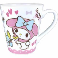マイメロディ マグカップ 陶器製 スリム マグカップ おやつ サンリオ ギフト食器 キャラクター グッズ
