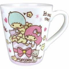 リトルツインスターズ マグカップ 陶器製 スリム マグカップ おやつ サンリオ ギフト食器 キャラクター グッズ