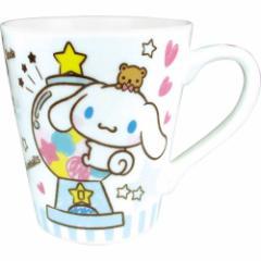 シナモロール マグカップ 陶器製 スリム マグカップ おやつ サンリオ ギフト食器 キャラクター グッズ