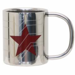 ウィンターソルジャー 保温 保冷 マグカップ 真空 ステンレス 二重マグ シルバー マーベル 300ml キャラクター グッズ