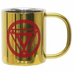 アイアンマン 保温 保冷 マグカップ 真空 ステンレス 二重マグ ゴールド マーベル 300ml キャラクター グッズ