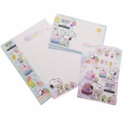 スヌーピー 手紙セット レターセット スイーツ ピーナッツ 便箋 封筒 キャラクター グッズ メール便可