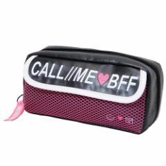 筆箱 メッシュ ペンケース CALL ME BFF フラップ かわいい ペンポーチ ステーショナリー グッズ
