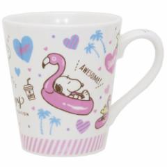 スヌーピー マグカップ 陶器製マグ フラミンゴ ピーナッツ 新生活準備 キャラクター グッズ