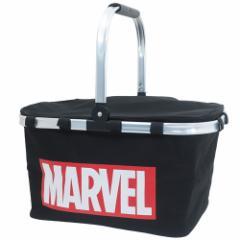 MARVEL 保冷バッグ アルミ 持ち手付き クーラーバッグ ロゴアート マーベル 48×35×25mm キャラクター グッズ