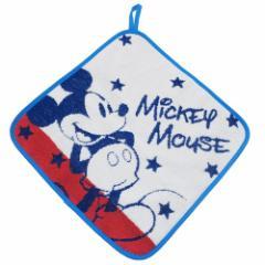 ミッキーマウス ループタオル 無撚糸 スクールタオル スクールメイト ディズニー 30×30cm キャラクター グッズ メール便可