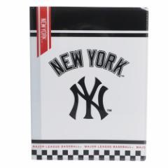 メジャーリーグベースボール ファイル 10ポケット A4 クリアファイル ニューヨークヤンキース MLB 新学期準備雑貨 キャラクター グッズ