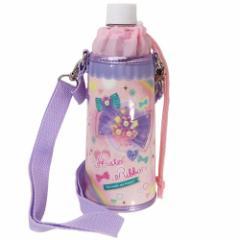 ペットボトルホルダー リボン 保冷 ボトルケース ショルダーストラップ付き 女の子向け グッズ