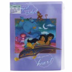 アラジン クリアファイル ジップファスナー付 6 ポケット A4 クリアファイル ストーリー ディズニー 新学期 準備 雑貨