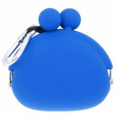 小銭入れ POCHIBI ブルー コインケース カラビナ付き 小物入れ ファッション グッズ