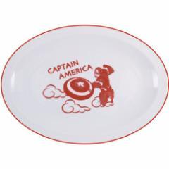 キャプテンアメリカ 中皿 餃子皿 マーベル 中華食器 キャラクター グッズ