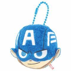 キャプテンアメリカ フェイスマスコット キーホルダー マーベル MARVEL ミニマスコット キャラクター グッズ