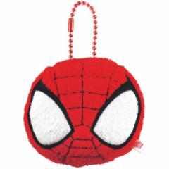 スパイダーマン フェイスマスコット キーホルダー マーベル MARVEL ミニマスコット キャラクター グッズ