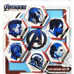 アベンジャーズ4 エンドゲーム 缶バッジセット カンバッジ 6個セット Aタイプ マーベル コレクション雑貨 キャラクター グッズ