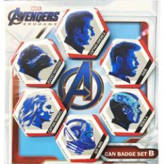 アベンジャーズ4 エンドゲーム 缶バッジセット カンバッジ 6個セット Bタイプ マーベル コレクション雑貨 キャラクター グッズ