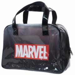 MARVEL プールバッグ ビニール ボストンバッグ ブラック マーベル 海プール サマーレジャー用品 キャラクター グッズ