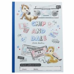 チップ&デール 英語 ノート B5 英習帳 2019SS ディズニー かわいい キャラクター グッズ メール便可