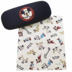 ミッキーマウス 眼鏡ケース クロス付き メガネケース MICKEY MOUSE CLUB フェイス ディズニー ハードタイプ キャラクター グッズ