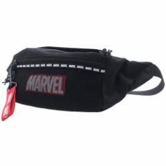 MARVEL ボディバッグ メッシュポケット付き ウエストポーチ ボックスメッシュ マーベル ギフト雑貨 キャラクター グッズ