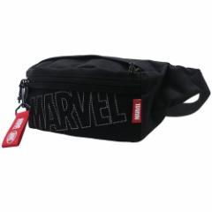 MARVEL ボディバッグ メッシュポケット付き ウエストポーチ ビッグロゴ マーベル ギフト雑貨 キャラクター グッズ