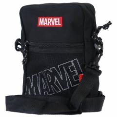 MARVEL ショルダーバッグ スクエアショルダー M メッシュポケットロゴ マーベル 15.5×23×7.5cm キャラクター グッズ
