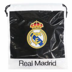 レアルマドリード ビニール 巾着 ポリ きんちゃく サッカー 30×34×10cm キャラクター グッズ メール便可