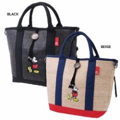 ミッキーマウス トートバッグ デリバスケット ミッキー B ディズニー かごバッグ キャラクター グッズ 送料無料