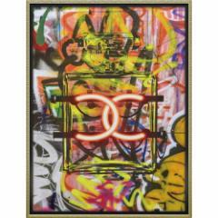 アマンダ グリーンウッド パネル ブランド キャンバスアート グラフィティ パフューム1(Lサイズ) 取寄品 送料無料