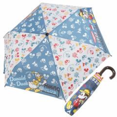 ミッキー&フレンズ 折畳 耐風 傘 折りたたみかさ アウトドア ディズニー 53cm キャラクター グッズ