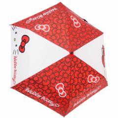 ハローキティ 折畳 耐風 傘 折りたたみかさ メニーリボン サンリオ 53cm キャラクター グッズ