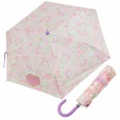 マイメロディ 折畳 耐風 傘 折りたたみかさ フラワー&フルーツ サンリオ 53cm キャラクター グッズ