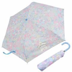 リトルツインスターズ キキ&ララ 折畳 耐風 傘 折りたたみかさ フラワー&フルーツ サンリオ 53cm キャラクター グッズ
