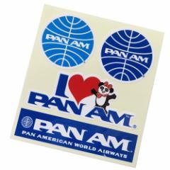 パンアメリカン航空 パンナム シール ダイカット 防水 ステッカー 697465 PAN AM おしゃれ キャラクター グッズ メール便可