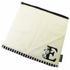 スヌーピー ミニタオル イニシャル ハンカチタオル アルファベット E ピーナッツ 25×25cm キャラクター グッズ メール便可