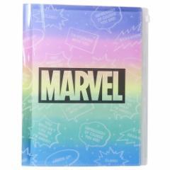 MARVEL ファイル ジップファスナー付 6ポケット A4 クリアファイル フキダシ マーベル 新学期準備雑貨 キャラクター グッズ