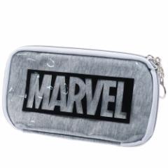 MARVEL 筆箱 マルチ ペンケース ロゴ グレー マーベル 21×11×2.5cm キャラクター グッズ メール便可