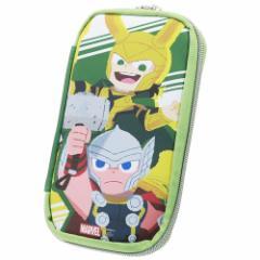 MARVEL × GuriHiru 筆箱 マルチ ペンケース マイティーソー&ロキ マーベル 21×11×2.5cm キャラクター グッズ メール便可