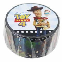 トイストーリー 4 マスキングテープ 箔入り 20mm マステ フィルム ブラック ディズニー 20mm×4メートル メール便可