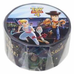 トイストーリー 4 マスキングテープ 箔入り 20mm マステ 遊園地 ディズニー 20mm×4メートル キャラクター グッズ メール便可