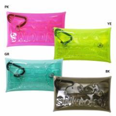 スヌーピー ミニポーチ カラビナ付き クリアマルチケースS 押し型カラー ピーナッツ 6×11cm キャラクター グッズ メール便可