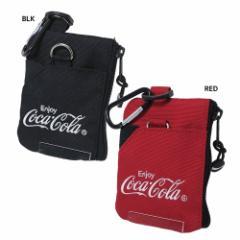 コカコーラ × YAKPAK ミニポーチ カラビナポーチ CocaCola 9×12.5×1cm キャラクター グッズ メール便可