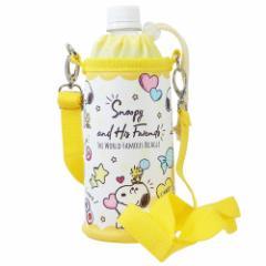 スヌーピー ペットボトルホルダー ショルダー付き 保冷 ペットボトルケース キャンディ ピーナッツ 500ml対応 キャラクター グッズ