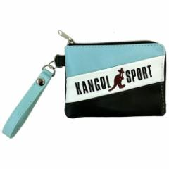 KANGOL SPORT 定期入れ トリコカラーライン コインケース パスケース ブルー 小銭入れ ファッションブランド グッズ メール便可
