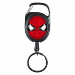 スパイダーマン キーホルダー キャラ リール キーリング MARVEL バッグチャーム キャラクター グッズ メール便可